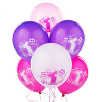 My 1st Birthday Pink Printed Latex Balloons