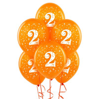 Orange with #2 Matte Balloons