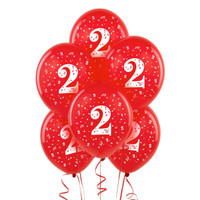 Red with #2 Matte Balloons