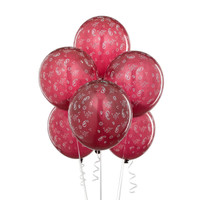 Burgundy with Bandana Print Balloons