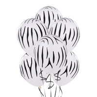 Zebra Stripes Printed Balloons
