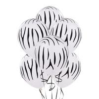 Zebra Stripes Printed Balloons