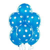 Robin's Egg Blue with White Polka Dots Latex Balloons