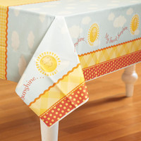 Little Sunshine Party Plastic Tablecover