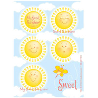 Little Sunshine Party Sticker Sheets