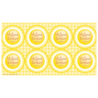 Little Sunshine Party Small Lollipop Sticker Sheet