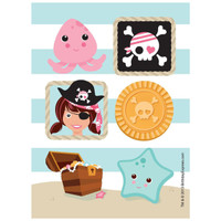 Pretty Pirates Party Sticker Sheets