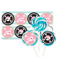 Pretty Pirates Party Large Lollipop Kit