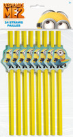 Minions Despicable Me - Party Straws