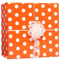 Orange Polka Dot Gift Wrap Kit