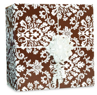 Chocolate Brown Brocade Gift Wrap Kit