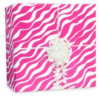 Bright Pink Zebra Gift Wrap Kit