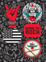 Born to Rock Sticker Sheets