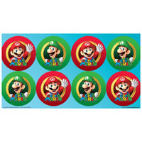Super Mario Party Large Lollipop Sticker Sheet