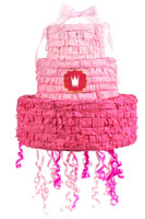 Pink! Pull-String Pinata with Ribbon