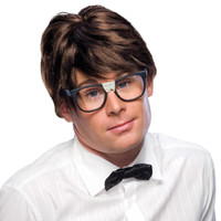 Nerd Wig Short Brown
