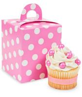 Hot Pink & White Polka Dot Cupcake Boxes