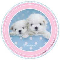 rachaelhale Glamour Dogs Round Activity Placemats