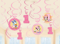 Disney Minnie 1st Birthday Hanging Swirl Decorations