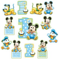Disney Mickey 1st Birthday Cutouts