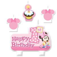Disney Minnie 1st Birthday Candle Set