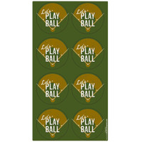 Baseball Time Large Lollipop Sticker Sheet