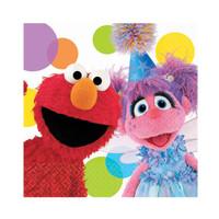 Sesame Street Elmo Party - Elmo and Abbey Beverage Napkins