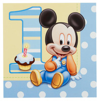 Disney Mickey's 1st Birthday Lunch Napkins