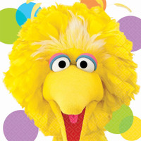 Sesame Street Party Big Bird Lunch Napkins
