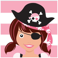 Pretty Pirates Party Lunch Napkins