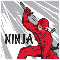 Ninja Warrior Party Lunch Napkins