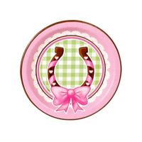 Pink Cowgirl Dessert Plates