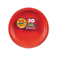 Apple Red Big Party Pack Dessert Plates