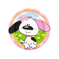 Playful Puppy Pink Dessert Plates