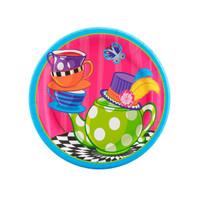 Topsy Turvy Tea Party Dessert Plates