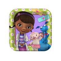 Disney Junior Doc McStuffins Square Dessert Plates