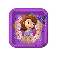 Disney Junior Sofia the First Square Dessert Plates