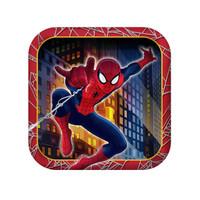 Spider Hero Dream Party Square Dessert Plates