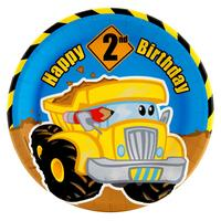 Construction Pals 2nd Birthday Dinner Plates