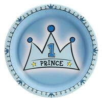 Lil' Prince 1st Birthday Dinner Plates
