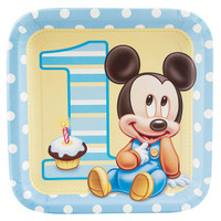 Disney Mickey's 1st Birthday Dinner Plates
