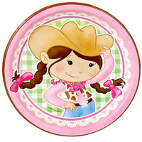 Pink Cowgirl Dinner Plates