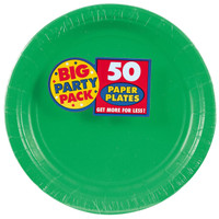 Festive Green Big Party Pack Dinner Plates