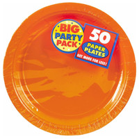 Orange Peel Big Party Pack Dinner Plates