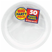 Frosty White Big Party Pack Dinner Plates