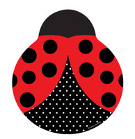LadyBug Fancy Shaped Plates