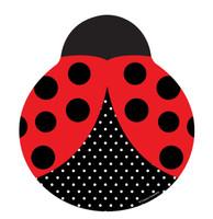 LadyBug Fancy Shaped Plates