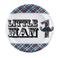 Little Man Mustache 1st Dinner Plates