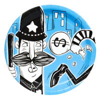 Cops and Robbers Party Dinner Plates