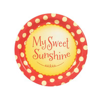 Little Sunshine Party Dessert Plates